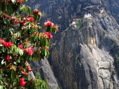 Village perché du Bhoutan
