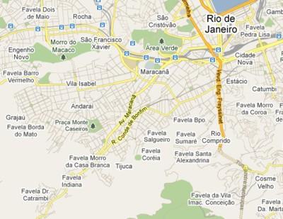Les favelas de Rio de Janeiro sur Google Maps