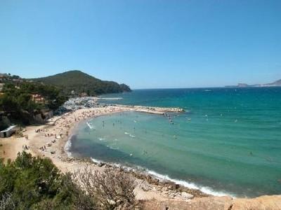 La plage de Saint-Cyr sur Mer