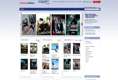Films en streaming sur American Airlines