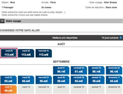 Augmentation du prix des billets à la SNCF ?