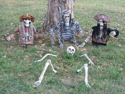 Décoration squellettes Halloween