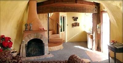 botte hôtel salon cheminée