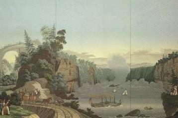 papier peint panoramique chutes du niagara musée