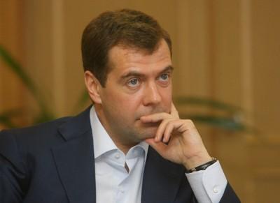 le président russe Medvedev